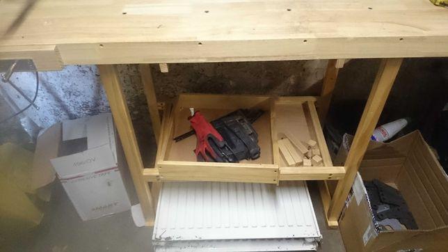 Stol  drewniany warsztatowy stolarski 150x60x70