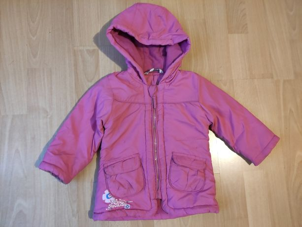 Kurtka zimowa płaszczyk dla dziewczynki rozmiar 80