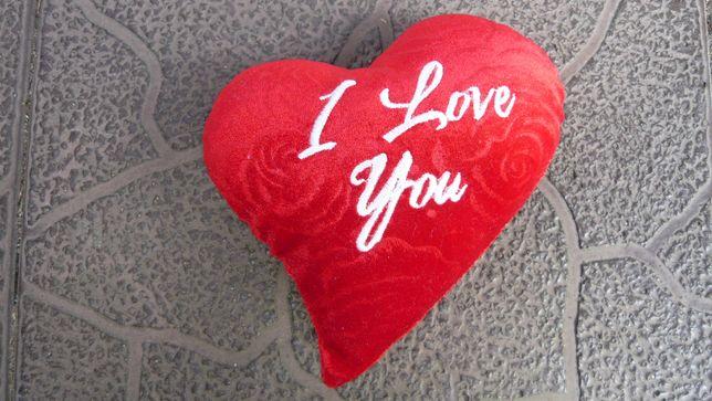 Poduszka serce I love you na Walentynki poduszeczka jasiek kocham cię