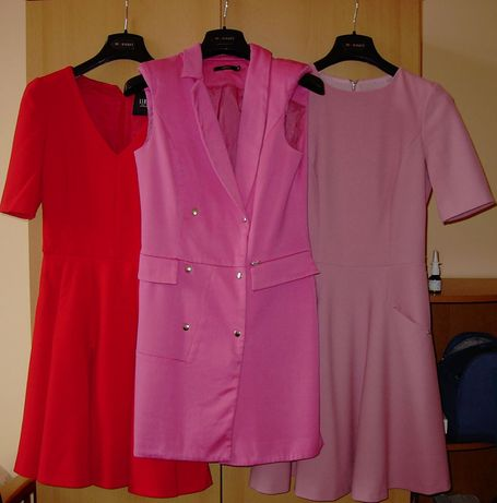 SIMPLE, zestaw dwóch sukienek rozmiar 34-38 plus GRATIS