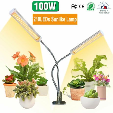 100W Sunlike LED Grow Light Dimmable 3, 6, 12 horas