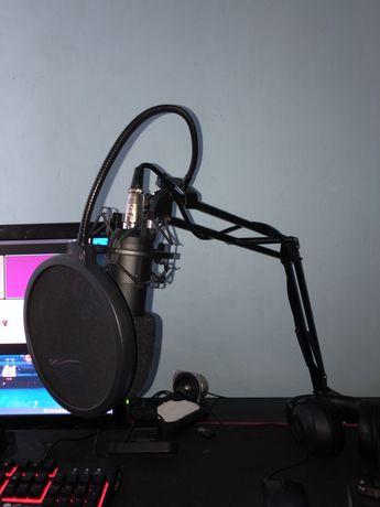 Mikrofon tracer studio pro + karta dzwiekowa wysokej jakosci