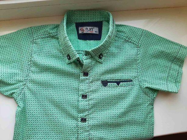 Легкая рубашка на мальчика 2-4 года короткий рукав