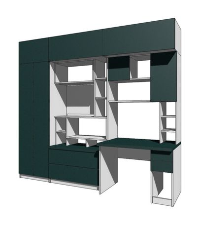 Стінка в кімнату, шафа, кабінет, нова