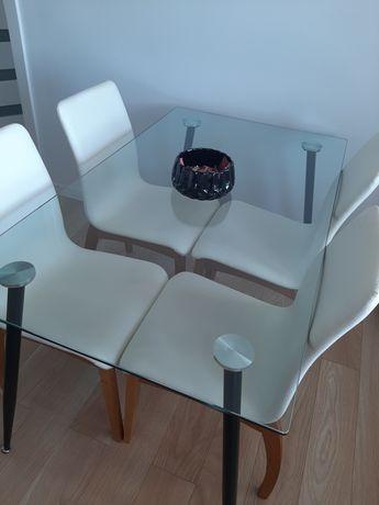 Szklany stół 140x60
