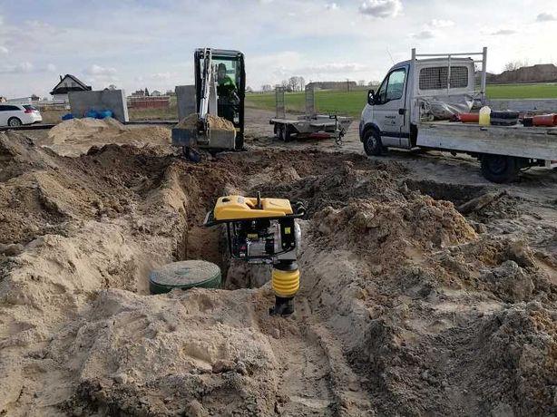 usługi minikoparką, przyłacza wodne i przyłacza kanalizacyjne