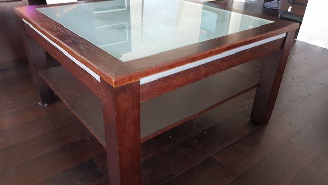 Komplet mebli drewniany RTV + stolik wenge
