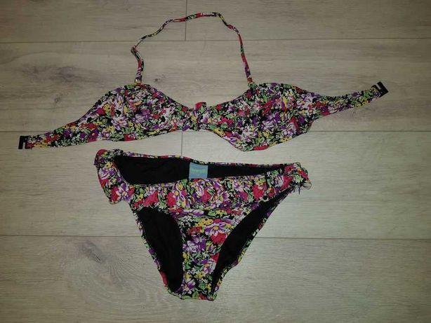 Zjawiskowy kostium kąpielowy w kwiaty Pistachio L