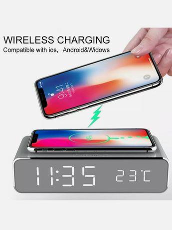 Despertador com carregador wireless