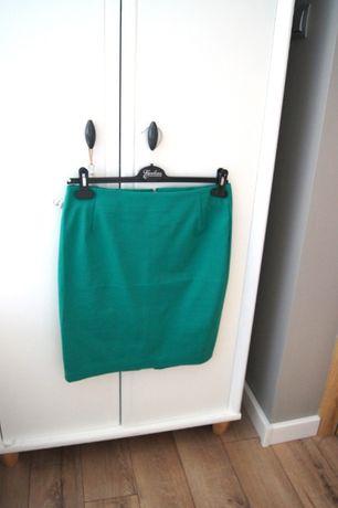 reserved nowa z metka elegancka ciemno zielona spodnica tuba 42 XL 40