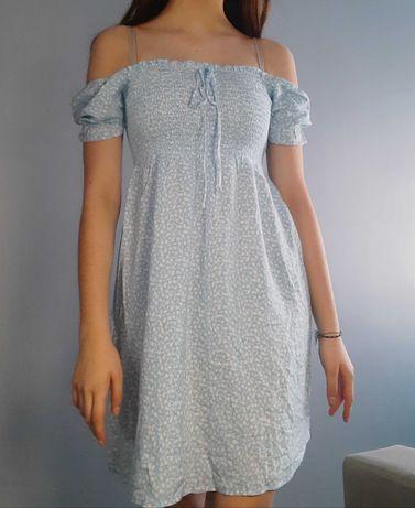 Letnia sukienka błękitna