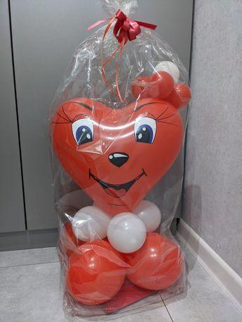 Шарики на подарок 8 марта день рождения сердце