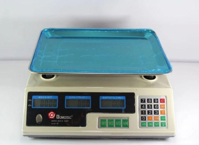 Весы торговые Domotec MS 228 6V Acs 50kg/5g с калькулятором удобный