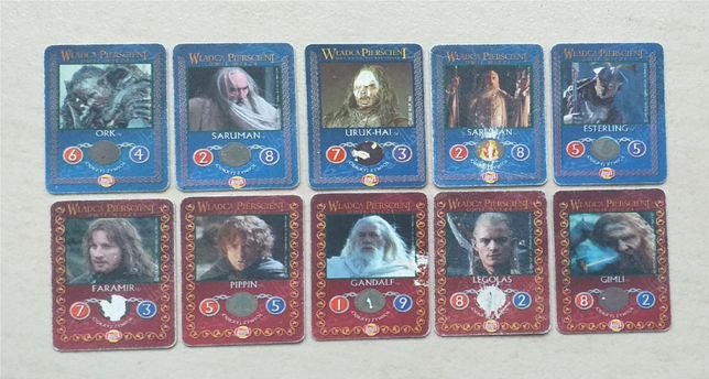 Karty Władca Pierścieni + (brelok do kluczy GRATIS) - naprawdę warto!