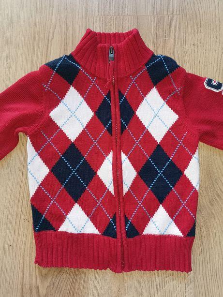 Sweter H&M rozm. 104 rozpinany elegancki w krate
