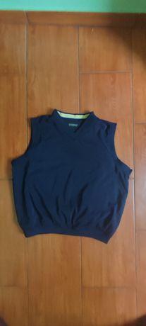 Bluza bez rękawów L XL V neck Reebok