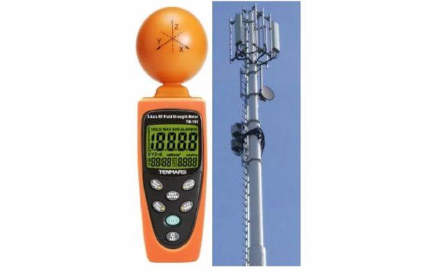Miernik TM-195. Pomiary pola elektromagnetycznego, PEM, GSM, Wi-Fi, 5G