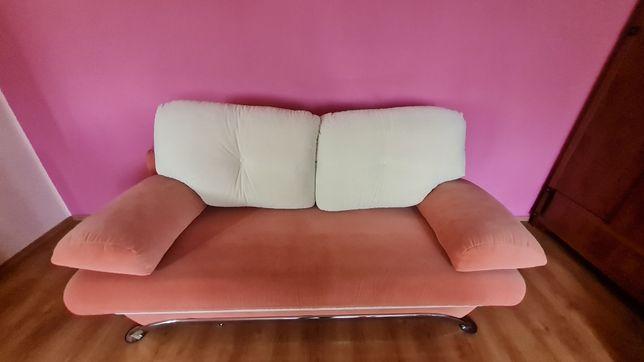Komplet wypoczynkowy mebli - sofa rozkładana fotele stół