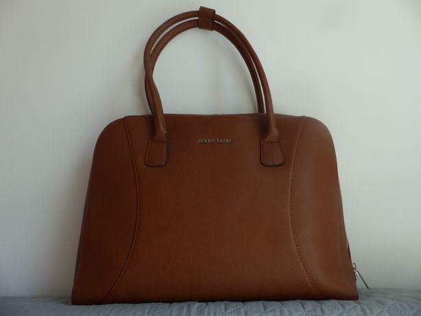 Torba torebka shopper bag na laptopa brąz brązowa duża