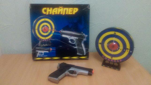 Игрушка музыкальная Тир Снайпер лазерный пистолет