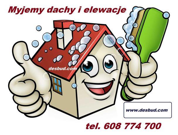 Mycie, czyszczenie elewacji i dachów