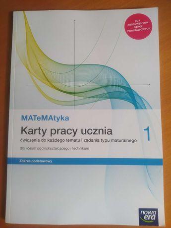 Matematyka Karty pracy ucznia kl.1 LO/Technikum, zakres podstawowy