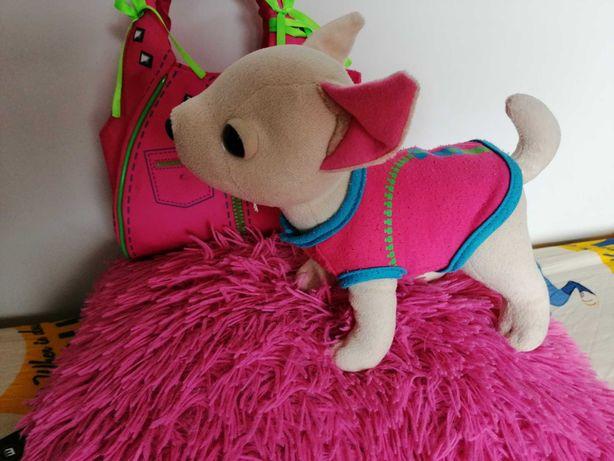 Piesek ChiChi Love w różowej torebce z lusterkiem II