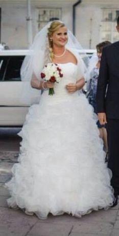 Suknia ślubna długa i krótka w jednej