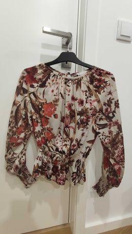 Camisola manga comprida meia estação com flores