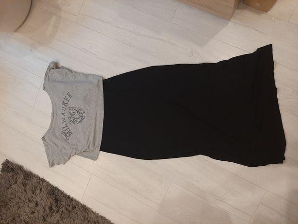 Długa sukienka z bluzką 42 xl