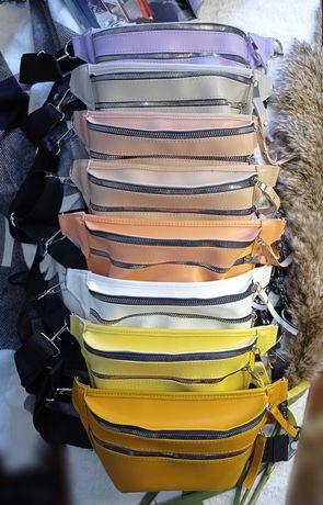 Бананка клатч кросс-боди сумка ч/плечо поясная эко-кожа цепочка