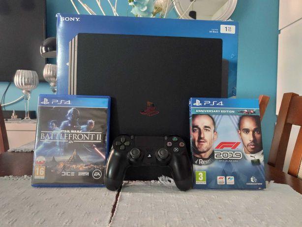 SONY PlayStation 4 Pro 1TB - 1 pad i 2 gry