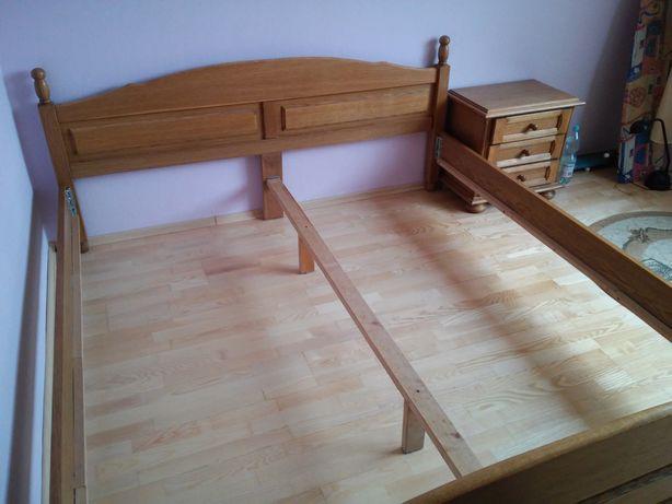 Łóżko drewniane małżeńskie rozmiar 180x200 z szafką nocną