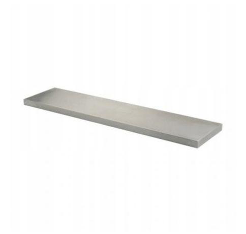 Półka ze stali nierdzewnej 119x36,5 cm z 2 wspornikami IKEA