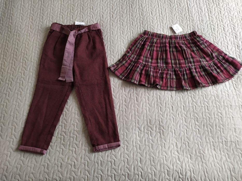 Nowy zestaw Reserved r.104 spodnie + spódnica grubsze Września - image 1