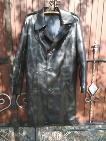 Плащ мужской, куртка из кожазаменителя времен СССР.