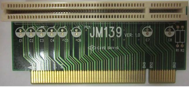 Левосторонний угловой райзер 32 Bit 1U PCI адаптер JM139
