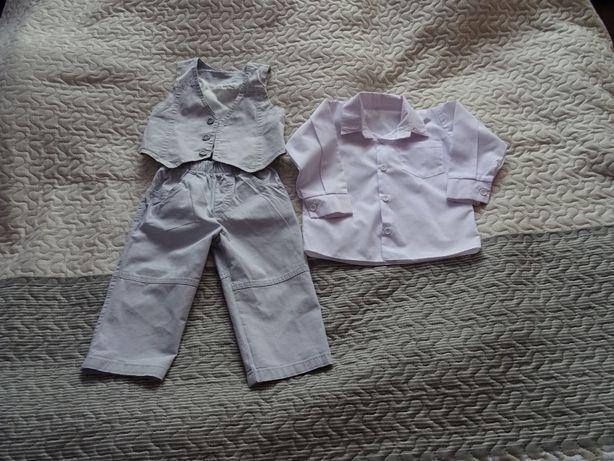 Eleganckie ubranko dla chłopca roz. 86