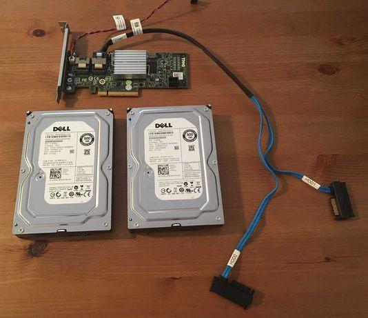 Controlador RAID Dell PERC H200 + 2 x 500GB HDD