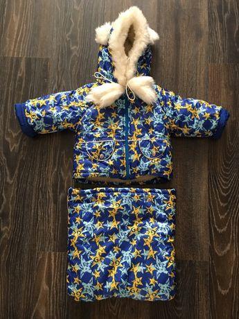 Продам курточка + конверт зимняя детская