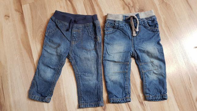 Spodnie chłopięce jeansowe rozmiar 68