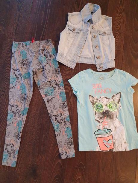 Zestaw ubrań dla dziewczynki 146/152