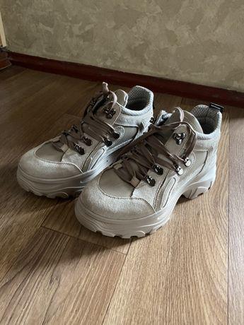 Кожаные кроссовки balance