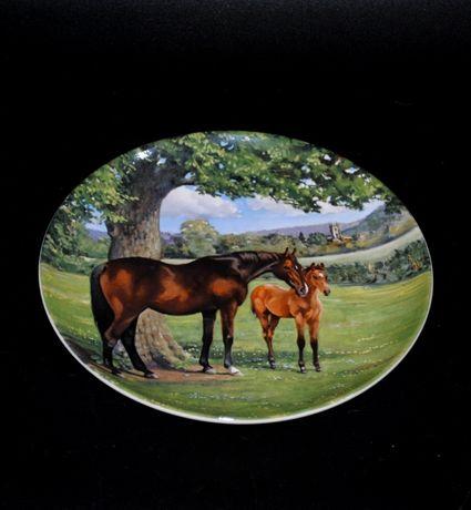 Spode 1988 тарелка костяной фарфор коллекционная сувенир винтаж лошад