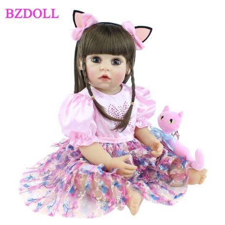 Lalka Reborn Dziewczynka z kotkiem