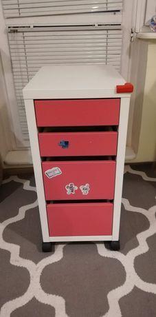 Ikea micke szufladki różowe