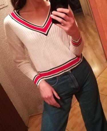 Sweterek h&m V dekold V neck rozmiar S (36)