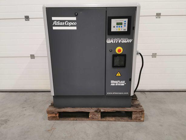 2008 Sprężarka śrubowa 11kw +FALOWNIK kompresor ATLAS COPCO 1.7m OSUSZ