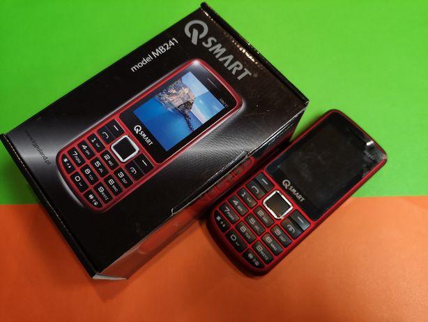Nowy QSMART MB241 Dual SIM Red Dla Seniora
