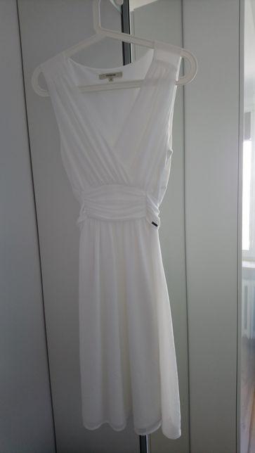 Sukienka (ślubna) biała do kolan